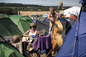 Double bass playing, Tolpuddle Martyrs' Festival, Dorset 2018 - Jess Hurd - 21-07-2018