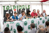 Brexit session with Lord John Monks, Dr Alan Greer, Clare Moody MP, Owen Tudor TUC, Ben Bradshaw MP and Kerry McCarthy MP at Tolpuddle Martyrs' Festival, Dorset 2018. - Jess Hurd - 21-07-2018