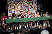 Tolduddle Question Time with Roger McKenzie UNISON, Shakira Martin NUS, Thangam Debbonaire MP and Kate Bell TUC at Tolpuddle Martyrs' Festival, Dorset 2018. - Jess Hurd - 21-07-2018