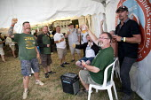 RMT, Tolpuddle Martyrs' Festival, Dorset 2018 - Jess Hurd - 2010s,2018,alcohol,COMMEMORATE,COMMEMORATING,commemoration,COMMEMORATIONS,commemorative,Dorset,drink,drinker,drinkers,drinking,drinks,Festival,festivals,male,man,member,member members,members,men,PEOP