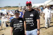 GMB We Are Not Robots at Tolpuddle Martyrs' Festival, Dorset 2018. - Jess Hurd - 2010s,2018,amazon,automated,AUTOMATIC,automation,COMMEMORATE,COMMEMORATING,commemoration,COMMEMORATIONS,commemorative,Dorset,FEMALE,Festival,festivals,GMB,male,man,member,member members,members,men,PE