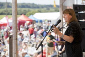 Sally Hunt, UCU speaking, Tolpuddle Martyrs' Festival, Dorset 2018 - Jess Hurd - 22-07-2018