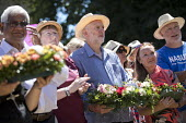 Jeremy Corbyn wreath laying at Tolpuddle Martyrs' Festival, Dorset 2018. - Jess Hurd - 2010s,2018,cemeteries,cemetery,COMMEMORATE,COMMEMORATING,commemoration,COMMEMORATIONS,commemorative,Dorset,Festival,festivals,floral tribute,floral tributes,flower,flowering,flowers,grave,graves,grave