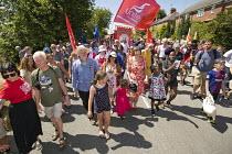 Tolpuddle Martyrs' Festival, Dorset 2018. - Jess Hurd - 2010s,2018,BAME,BAMEs,banner,banners,BEMM,BEMMS,Black and White,BME,bmes,COMMEMORATE,COMMEMORATING,commemoration,COMMEMORATIONS,commemorative,diversity,Dorset,ethnic,ethnicity,FEMALE,Festival,festival