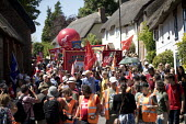 Tolpuddle Martyrs' Festival, Dorset 2018. - Jess Hurd - 2010s,2018,Agricultural Workers Union,AWU,banner,banners,COMMEMORATE,COMMEMORATING,commemoration,COMMEMORATIONS,commemorative,Dorset,Festival,festivals,Jeremy Corbyn,Labour Party,male,man,member,membe