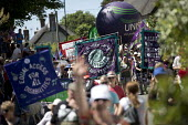 Women's sufferage banners at Tolpuddle Martyrs' Festival, Dorset 2018. - Jess Hurd - 22-07-2018