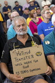 Detroit, Michigan USA: Teamsters union Save Our Pensions rally. More than 300 multiemployer pension plans across the country are in financial difficulty. The unions want Congress to pass the Butch Lew... - Jim West - 20-07-2018
