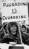 Nurses protest regrading is degrading, Manchester 1988 - John Harris - 1980s,1988,activist,activists,against,anti,campaign,campaigning,CAMPAIGNS,COHSE,cuts,DEMONSTRATING,Demonstration,FEMALE,HEALTH SERVICES,Health Worker,health workers,healthcare,Manchester,member,member