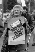 Protest against NHS cuts, Hospital closure Droitwich 1987 - John Harris - 05-12-1987