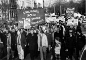 GCHQ trade unions protest ban on membership, Cheltenham 1986 - John Harris - 25-01-1986