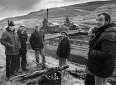 NUM picket Lewis Merthyr Colliery, 1983 Rhondda Valley, South Wales strike against pit closure - John Harris - 12-02-1983