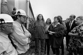 Supporters of 4 women occupying headgear Trentham Colliery against pit closure, Staffordshire 1993 - John Harris - 13-05-1993