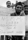 Asisan workers locked out in dispute over union recognition for NSMM and redundancies, G & M Plastics, Redditich 1983 - John Harris - 1980s,1983,activist,activists,Asian,Asians,BAME,BAMEs,Black,BME,bmes,CAMPAIGNING,CAMPAIGNS,DEMONSTRATING,Demonstration,dispute,diversity,ethnic,ethnicity,locked,Locked Out,lockout,member,member member
