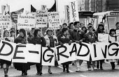 Nurses protest regrading is degrading, Manchester 1988 - John Harris - 1980s,1988,activist,activists,against,anti,campaign,campaigning,CAMPAIGNS,cuts,DEMONSTRATING,Demonstration,FEMALE,HEALTH SERVICES,Health Worker,health workers,healthcare,Manchester,member,member membe