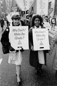Nurses protest regrading is degrading, Manchester 1988 - John Harris - 1980s,1988,activist,activists,against,anti,BAME,BAMEs,BEMM,BEMMS,Black,Black and White,BME,bmes,campaign,campaigning,CAMPAIGNS,cuts,DEMONSTRATING,Demonstration,diversity,ethnic,ethnicity,FEMALE,HEALTH