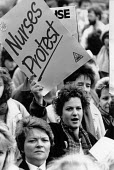 Health workers Day of Action protest against cuts and underfunding of the NHS, St James Hospital, Leeds 1988 - John Harris - 03-02-1988