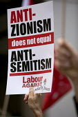 Protest outside Labour Party NEC meeting against the IHRA Anti Semitism definition, Labour HQ, London - Jess Hurd - 04-09-2018