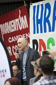 Chris Williamson MP speaking, protest outside Labour Party NEC meeting against the IHRA Anti Semitism definition, Labour HQ, London - Jess Hurd - 04-09-2018