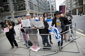 Pro Zionist, anti Corbyn group protesting outside Labour Party NEC meeting on IHRA anti semitism definition, Labour HQ, London - Jess Hurd - 04-09-2018