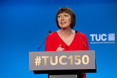 Frances O'Grady TUC speaking TUC Congress Manchester 2018 - John Harris - 10-09-2018