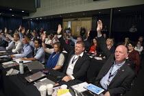 FBU delegates voting TUC Congress Manchester 2018 - John Harris - 10-09-2018
