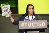 Louise Atkinson NEU speaking TUC Congress, Manchester 2018 - Jess Hurd - 09-09-2018