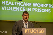 Joe Simpson POA speakingTUC Congress Manchester 2018 - John Harris - 10-09-2018