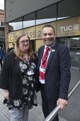 Yvonne Pattison, Ian Lawrence, Napo delegation, TUC Congress Manchester 2018 - John Harris - 10-09-2018