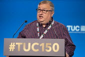 Mick Carney TSSA speaking TUC conference 2018 Manchester - John Harris - 11-09-2018