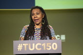 Sheree Angela Matthews AUE speaking TUC conference 2018 Manchester - John Harris - 2010s,2018,AUE,BAME,BAMEs,BEMM,BEMMS,Black,BME,bmes,conference,conferences,delegate,delegates,delegation,diversity,ethnic,ethnicity,FEMALE,Manchester,minorities,minority,people,person,persons,POC,SPEA