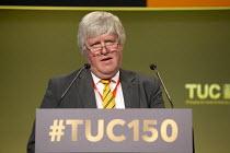 Paul Donaldson HCSA speaking TUC conference 2018 Manchester - John Harris - 11-09-2018