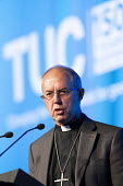 Justin Welby, the Archbishop of Canterbury speaking TUC conference 2018 Manchester - John Harris - 2010s,2018,conference,conferences,Manchester,SPEAKER,SPEAKERS,speaking,SPEECH,trade union,trade unions,trades union,trades unions,TUC,TUC congress