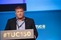 Ian Murray FBU speaking TUC conference 2018 Manchester - John Harris - 12-09-2018