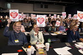 Wear Red Day, TUC conference 2018 Manchester - John Harris - 2010s,2018,Anti Racism,anti racist,conference,conferences,delegate,delegates,delegation,football,Manchester,member,member members,members,Show Racism the Red Card,trade union,trade union,trade unions,
