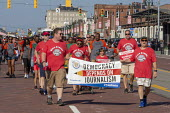 Detroit, Michigan USA Labor Day parade members of NewsGuild-CWA, Democracy depends on Journalism - Jim West - 03-09-2018