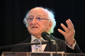 Irish President Michael D Higgins speaking, World Canals Conference, Athlone - Bob Naylor - 2010s,2018,Conference,conferences,Ireland,Irish,Irish Peseident,Michael D Higgins,POL,political,POLITICIAN,POLITICIANS,Politics,President,SPEAKER,SPEAKERS,speaking,SPEECH,World Canals Conference