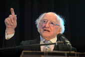 Irish President Michael D Higgins speaking, World Canals Conference, Athlone - Bob Naylor - 2010s,2018,Conference,conferences,Ireland,Irish,Irish Peseident,Michael D Higgins,POL,political,POLITICIAN,POLITICIANS,Politics,President,Republic of Ireland,SPEAKER,SPEAKERS,speaking,SPEECH,World Can