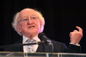 Irish President Michael D Higgins speaking, World Canals Conference, Athlone - Bob Naylor - 12-09-2018