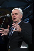 John McDonnell speaking, The World Transformed, Labour Party Conference, Liverpool - John Harris - 2010s,2018,Conference,conferences,John McDonnell,Left,left wing,Leftwing,Liverpool,male,man,men,momentum,MP,MPs,Party,people,person,persons,POL,political,politician,politicians,Politics,socialist,soci