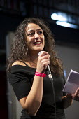 Marta Fana (Italian Journalist) speaking The World Transformed, Labour Party Conference, Liverpool - John Harris - 22-09-2018