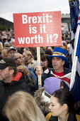 Pro EU Remain placard, Labour Party Conference rally, Liverpool Pier, 2018. Brexit, is it worth it? - Jess Hurd - 22-09-2018