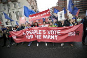 People's Vote March for the Many, Labour Party Conference, Liverpool, 2018 - Jess Hurd - 2010s,2018,2nd,activist,activists,banner,banners,Brexit,CAMPAIGNING,CAMPAIGNS,Conference,conferences,DEMONSTRATING,Demonstration,EU,European Union,FEMALE,flag,flags,Labour Party Conference,Liverpool,m