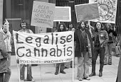 Legalise Cannabis Campaign lobby outside the Home Office London 1977 Smokey Bears - NLA - 1970s,1977,activist,activists,against,banner,banners,Bears,campaign,campaigning,CAMPAIGNS,Cannabis,class A,DEMONSTRATING,Demonstration,drug,drugs,hippie,hippies,hippy,Home,legalisation,Legalise,legali