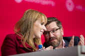Angela Rayner MP and James Asser Labour Party Conference, Liverpool, 2018 - Jess Hurd - 2010s,2018,Angela Rayner,conference,conferences,FEMALE,James Asser,Labour Party,Labour Party Conference,Liverpool,Party,people,person,persons,POL,political,POLITICIAN,POLITICIANS,Politics,woman,women