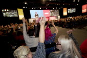 Delegates voting Labour Party Conference, Liverpool, 2018 - Jess Hurd - 2010s,2018,Angela Rayner,conference,conferences,delegate,Delegates,democracy,FEMALE,Hands up,Labour Party,Labour Party Conference,Liverpool,Party,people,person,persons,POL,political,POLITICIAN,POLITIC
