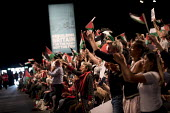 Delegates waving Palestinian flags Labour Party Conference, Liverpool, 2018 - Jess Hurd - 2010s,2018,Conference,conferences,delegate,delegates,flag,flags,Labour Party Conference,Liverpool,Palestine,palestinian,palestinians,Party,POL,political,POLITICIAN,POLITICIANS,Politics,solidarity,supp