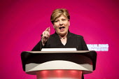 Emily Thornberry MP speaking Labour Party Conference, Liverpool, 2018 - Jess Hurd - 25-09-2018