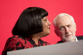 Diane Abbott MP and Jeremy Corbyn Labour Party Conference, Liverpool, 2018 - Jess Hurd - 25-09-2018