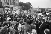 Battle of Lewisham 1977. Police protecting the National Front march through Lewisham, South London - NLA - 13-08-1977