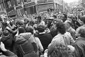 Battle of Lewisham 1977. Anti-fascists as police try to clear the streets for the National Front march, South London - NLA - ,1970s,1977,activist,activists,adult,adults,against,ALCARAF,Anti Fascist,Anti Racism,anti racist,anti-fascists,BAME,BAMEs,Battle of Lewisham,bigotry,Black,BME,bmes,CAMPAIGN,campaigner,campaigners,CAMP